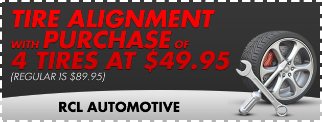 Tire Alignment with Purchase of 4 Tires at $49.95