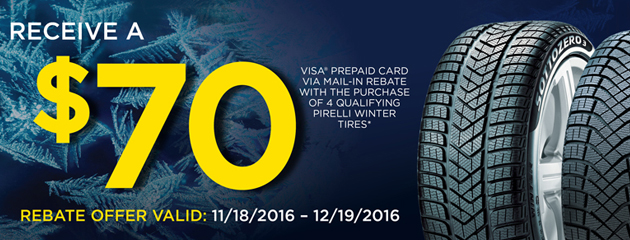 Pirelli Get $70 Prepaid With Four Qualifying Tires