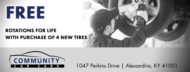 Free Rotations For Life With Purchase of 4 New Tires