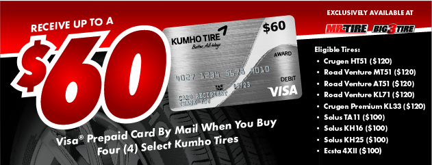 Kumho - Receive Up to a $60 Rebate