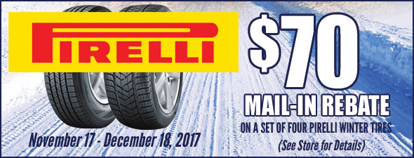 Pirelli - $70 Winter Tire Rebate
