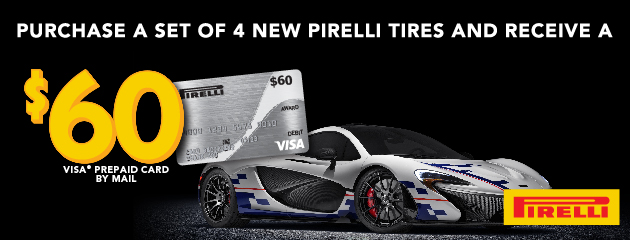 Pirelli $60 Pre Paid Card by Mail
