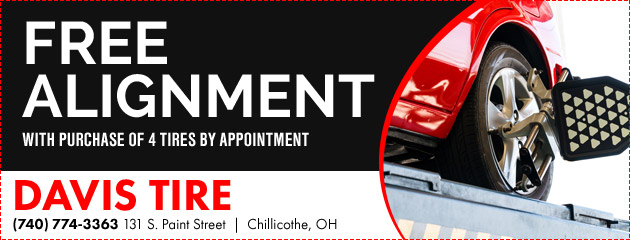 Free Alignment With Purchase of 4 Tires by Appointment