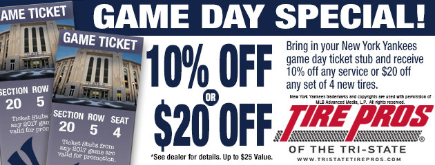 Tire Pros - Game Day Special