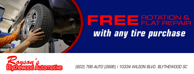 Free Rotation and Flat Repair With Any Tire Purchase