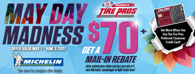 Tire Pros - Michelin® Up to $120 Rebate on 4 New Tires