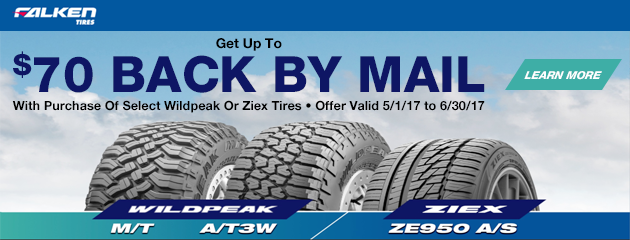 Falken $70 Rebate With Purchase of 4 Select Tires