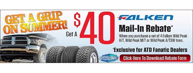 $40 Back on a Set of 4 Falken Wildpeak Tires
