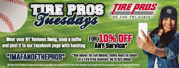 10% Off Any Purchase Tire Pros Tuesday