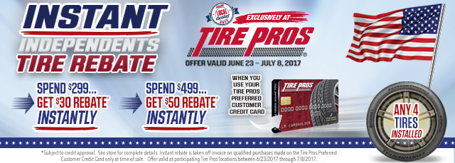 Tire Pros - Instant Rebates