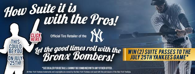 Win 2 Suite Passes to the July 25th Yankees Game