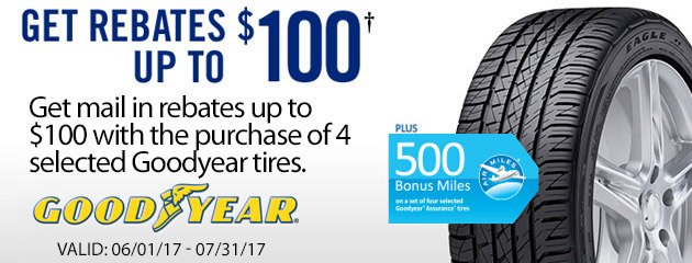 Goodyear TSN Get Rebates Up to $100