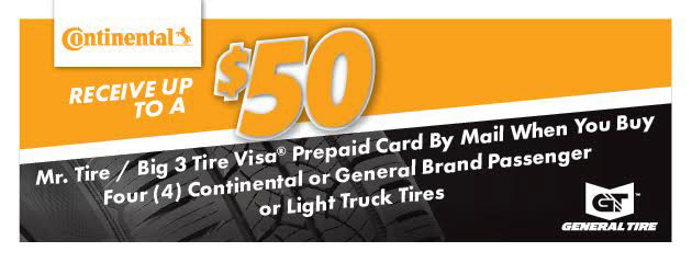 Receive Up to a $50 Rebate