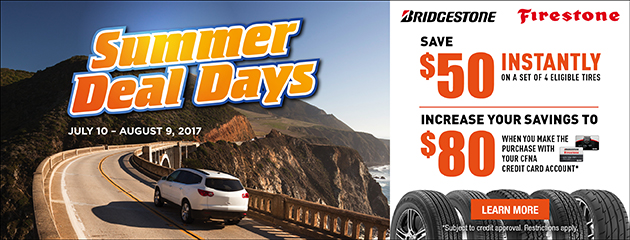 BS / FS Up to $80 Rebate With Purchase of 4 Select Tires