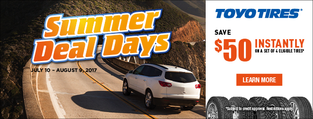 Toyo Tires - Summer Deal Days $50 Instantly Off 4 Select Tires