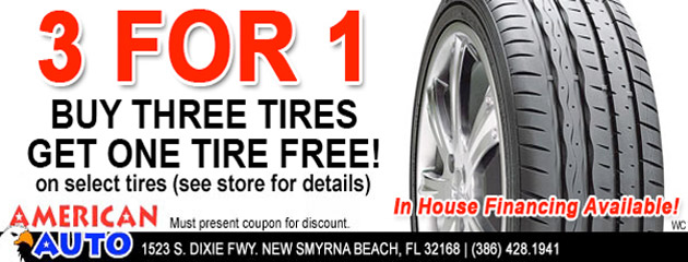 Buy 3 Select Tires and Get 1 Free