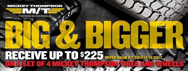 Mickey Thompson Canada - Up to $225 On Tires & Wheels