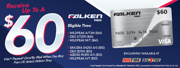 Falken - Get Up to a $60 Rebate