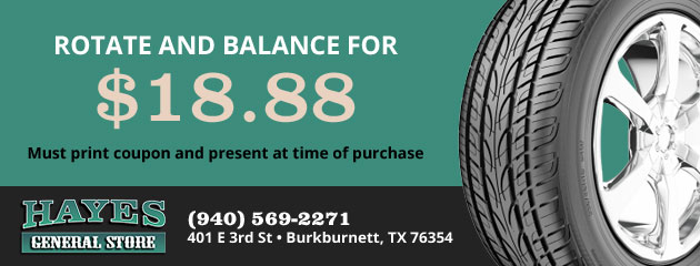 $18.88 Tire Rotation and Balance