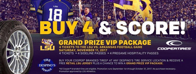 Free Retail LSU Jersey With any Cooper Tire Purchase