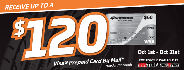 Hankook - Receive Up to a $120 Rebate