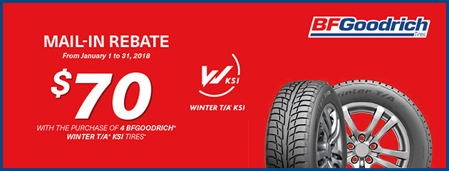 BFGoodrich - $70 Rebate on Select Tires