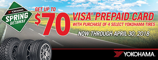 Yokohama - Up to $70 Reward With 4 Select Tires