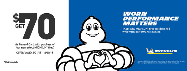Michelin - $70 Savings