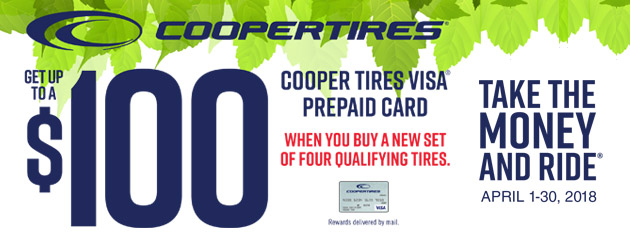 Cooper - Up to $100 Back on 4 Select Tires