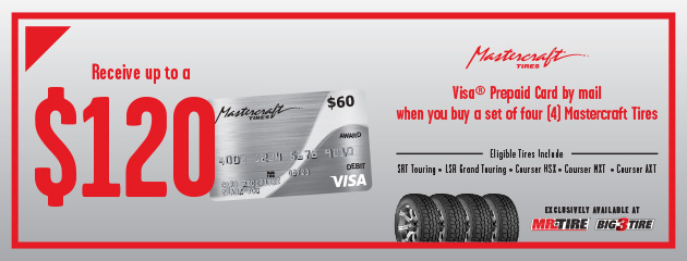 Mr.Tire - Mastercraft Up to $120 Rebate