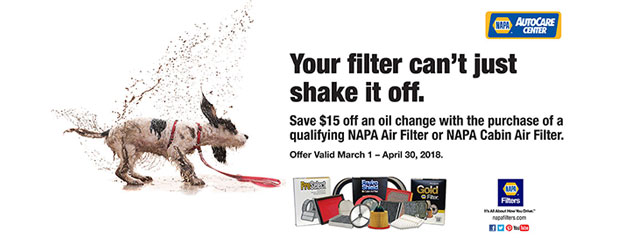 NAPA - Save $15 On an Oil Change