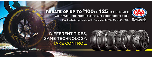 Pirelli - Up to $100 on 4 Select Tires