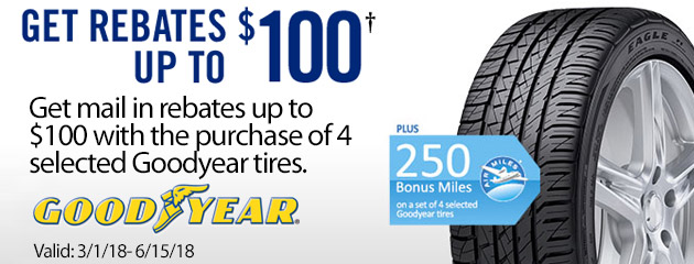 Goodyear Canada Up to $100 on Select Tires