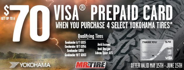 Mr.Tire - Yokohama Up to $70 On 4 Select Tires