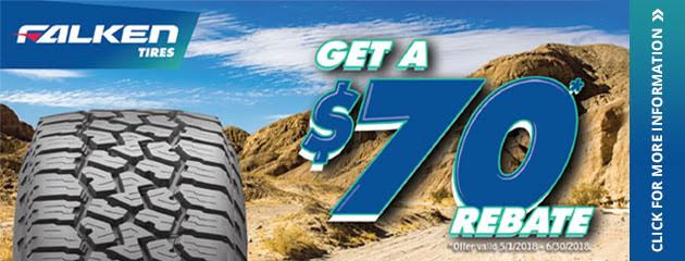 Falken - $70 back by Mail With 4 Select Tires