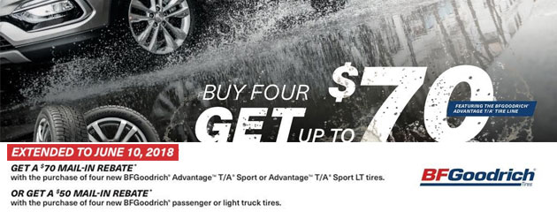 BFGoodrich Canada - Up to $70 Rebate