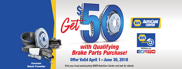 NAPA - Get $50 With Qualifying Brake Purchase
