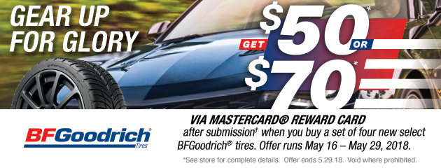 BFGoodrich - Up to $70 Reward on 4 Select Tires