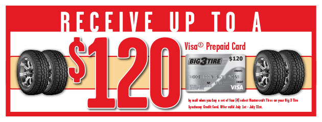 Big 3 - Mastercraft Up to $120 Visa Prepaid Card