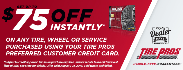 Tire Pros - Up to $75 Off Instantly