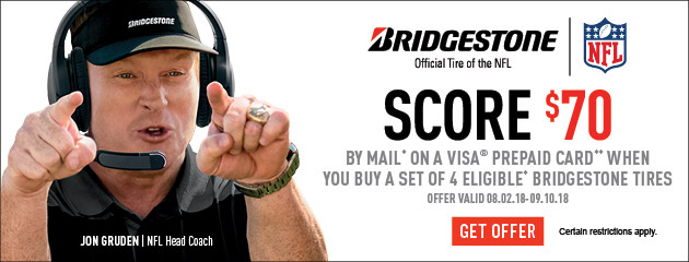 Bridgestone - $70 Fall Promotion