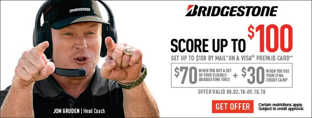Bridgestone CFNA - Up to $100 Fall Promotion