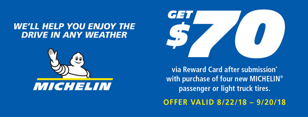 Michelin - $70 Rebate