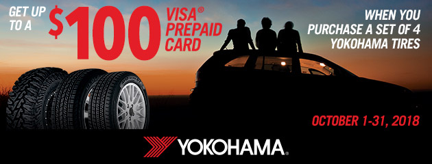 Yokohama - Up to $100 Rebate on Select Tires
