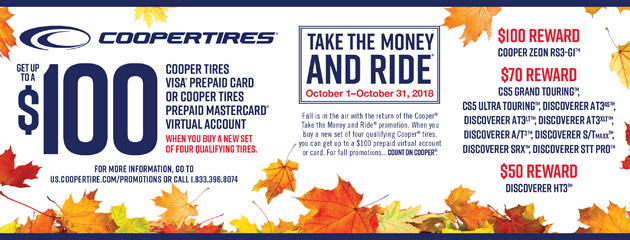 Cooper - Up to $100 Fall Reward