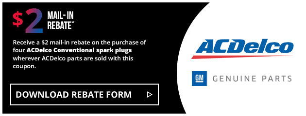 ACDelco - $12 Conventional Spark Plug Rebate