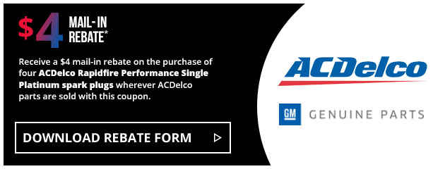 ACDelco - $4 Single Platinum Spark Plug Rebate