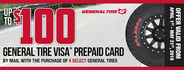Canada General Tire - Up to $100 Rebate