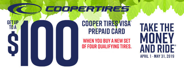 Cooper Tires Canada - Up to $100 Back on Select Tires