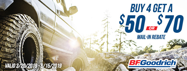 BFGoodrich Canada - Up to $70 Mail-in Rebate